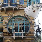 """ART NOUVEAU"" WINDOW and BOAT BALCONY ANTWERP   by Gilberte"