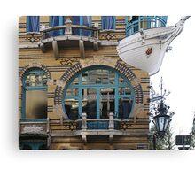 """ART NOUVEAU"" WINDOW and BOAT BALCONY ANTWERP   Canvas Print"
