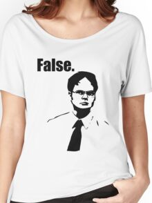 Dwight Schrute False Women's Relaxed Fit T-Shirt