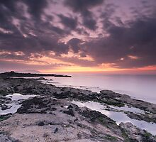 Orange Dusk at Watchet by kernuak