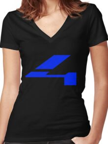 Halo 4 Solid Fill Women's Fitted V-Neck T-Shirt
