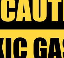 Caution: Toxic gases Sticker