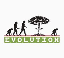 Not So Funny Evolution T-Shirt One Piece - Short Sleeve