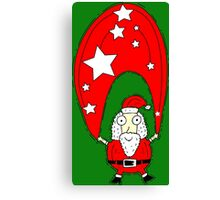 Christmas with Santa Clause Canvas Print