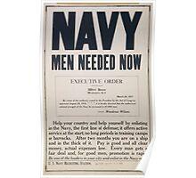 Navy men needed now Poster