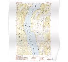 USGS Topo Map Washington State WA Rice 243439 1985 24000 Poster