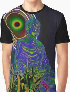 Psychedelic Buddha Graphic T-Shirt