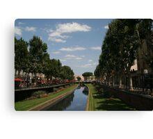 Perpignan, France River Bassa Canvas Print
