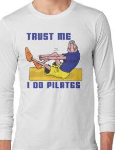 Funny Men's Pilates T-Shirt Long Sleeve T-Shirt