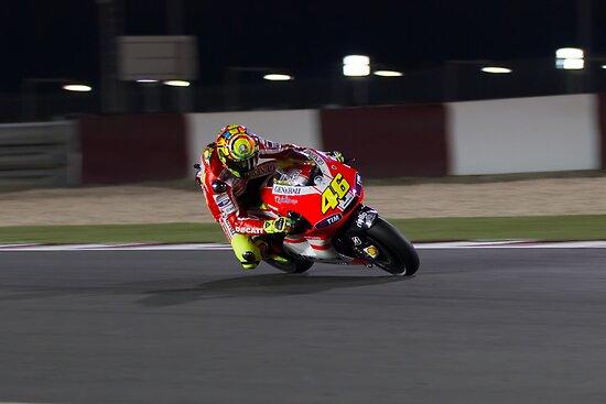 Valentino Rossi in Qatar 2011 by corsefoto
