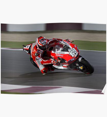 Nicky Hayden in Qatar 2011 Poster