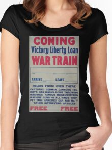 Coming Victory Liberty Loan war train Women's Fitted Scoop T-Shirt