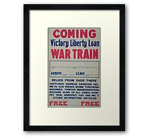 Coming Victory Liberty Loan war train Framed Print