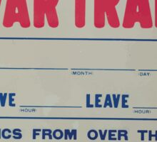 Coming Victory Liberty Loan war train Sticker
