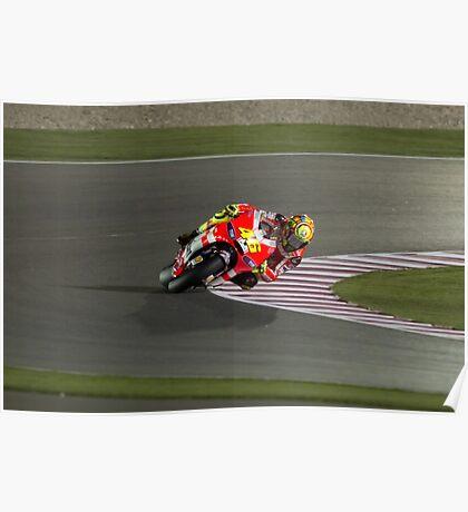 Valentino Rossi in Qatar 2011 Poster
