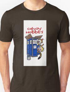 Calvin And Hobbes Tardis  T-Shirt