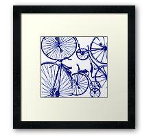 Blue Bikes Framed Print
