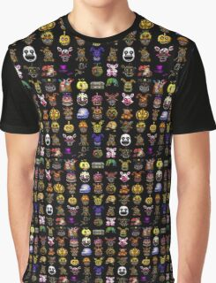 Multiple characters (New set) - Five Nights at Freddy's - Pixel art  Graphic T-Shirt
