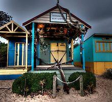 Beach Cabins by Gerard Rotse