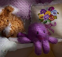 Child - Toy - Octopus in my closet  by Mike  Savad