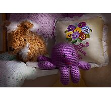 Child - Toy - Octopus in my closet  Photographic Print