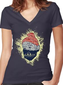 Deep Search Women's Fitted V-Neck T-Shirt