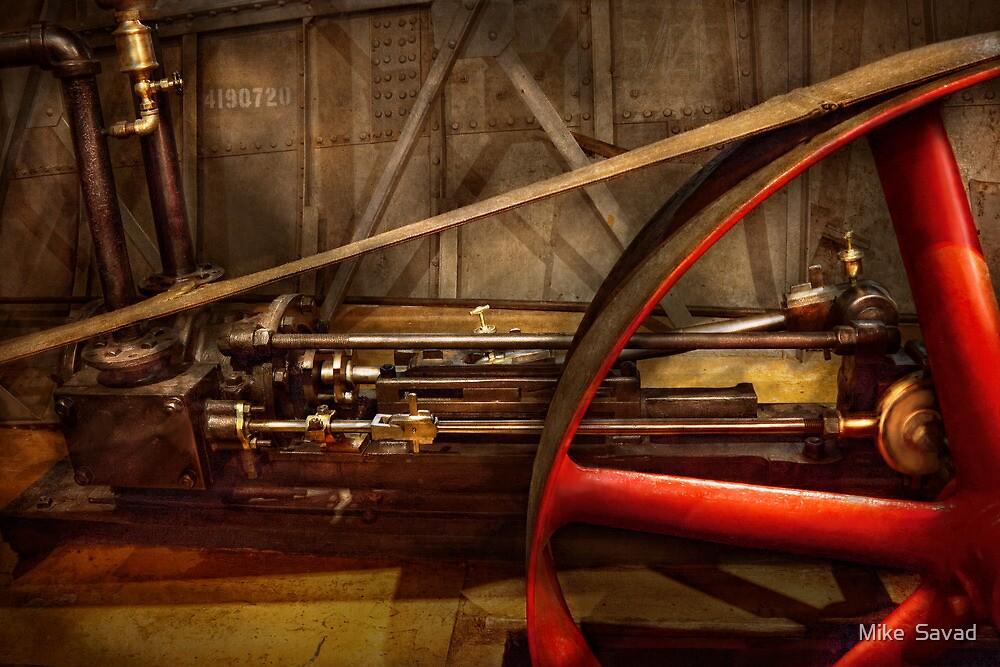 Steampunk - Machine - The wheel works by Mike  Savad