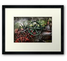 Steampunk - Machine - Transportation of the future Framed Print