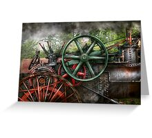 Steampunk - Machine - Transportation of the future Greeting Card