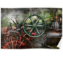 Steampunk - Machine - Transportation of the future Poster