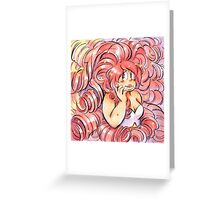 Fluffy Hair Divas - Rose Greeting Card