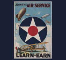 Join the Air Service Learn Earn 0001 Kids Tee