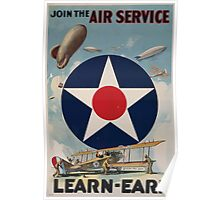 Join the Air Service Learn Earn 0001 Poster