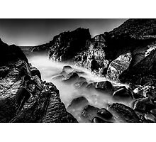Bombo Rocks ~ B&W Photographic Print