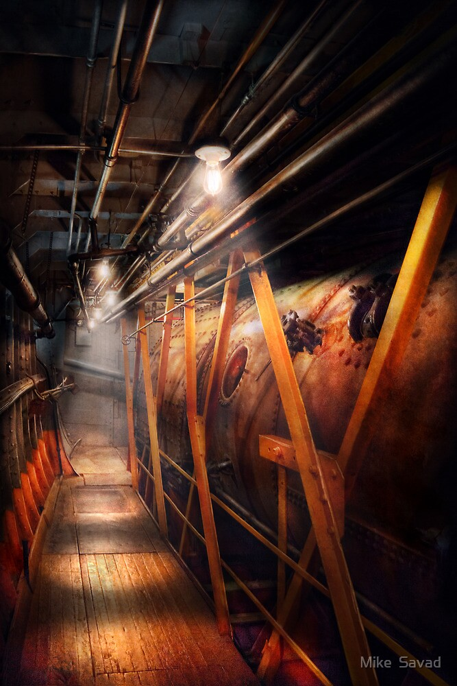 Steampunk - Plumbing - The hallway by Mike  Savad
