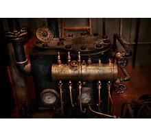 Steampunk - Plumbing - The valve matrix Photographic Print