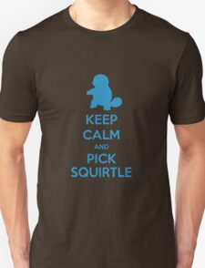Keep calm and pick Squirtle (version 1)  T-Shirt