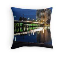 Mandurah's Old Traffic Bridge by night  Throw Pillow