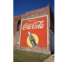 Route 66 - Coca Cola Mural Photographic Print