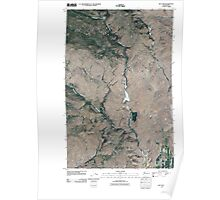 USGS Topo Map Washington State WA Rat Lake 20110404 TM Poster