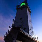 Ludington Lighthouse at Twilight by Kenneth Keifer