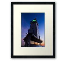 Ludington Lighthouse at Twilight Framed Print