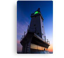 Ludington Lighthouse at Twilight Canvas Print