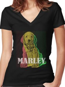 Marley Women's Fitted V-Neck T-Shirt