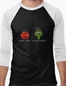 Funny Veggies Broccoli and Tomato Men's Baseball ¾ T-Shirt