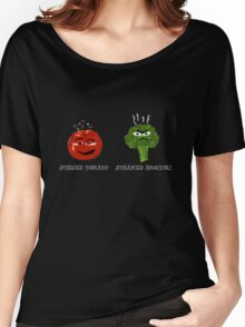 Funny Veggies Broccoli and Tomato Women's Relaxed Fit T-Shirt
