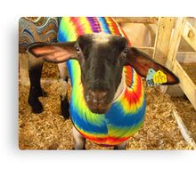 Sheep In Tie Dye Colors Canvas Print