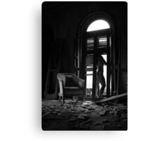 Satori- Self Portrait Abandoned Mansion, NY Canvas Print