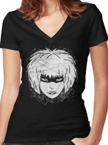 Deadly Pleasure Women's Fitted V-Neck T-Shirt