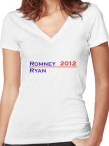 Romney-Ryan 2012 Shirt Women's Fitted V-Neck T-Shirt
